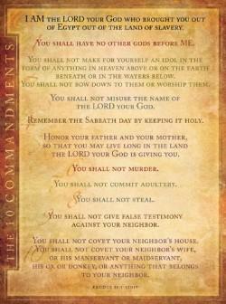 List of the Ten Commandments New International Version