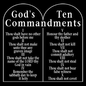 Ten Commandments Stone Tablets Weekly Bible Verses